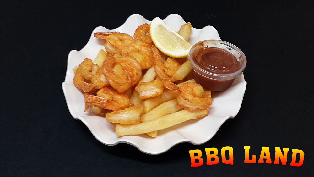 BBQ Land Shrimp and Chips
